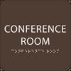 Dark Brown Conference Room ADA Sign