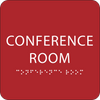 Red Conference Room ADA Sign