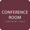 Burgundy Conference Room Tactile Sign