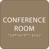 Light Brown Conference Room Braille Sign