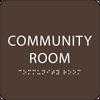 Brown Community Room ADA Sign
