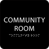 Black Community Room ADA Sign