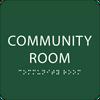 "Community Room ADA Sign - 6"" x 6"""