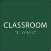 Green Classroom Tactile Sign