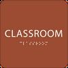 Orange Classroom ADA Sign