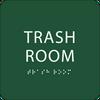 Green Trash Room ADA Sign