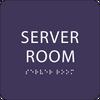 Purple  Server Room ADA Sign