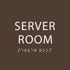 Dark Brown  Server Room ADA Sign