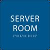 Blue  Server Room ADA Sign