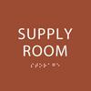 Orange Supply Room ADA Sign