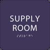 Purple Supply Room ADA Sign