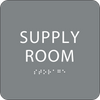 Grey Supply Room ADA Sign