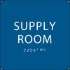 Blue Supply Room ADA Sign