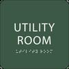 Green Utility Room ADA Sign