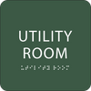 Green Utility Room ADA Sign