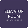 Purple Elevator Room Tactile Sign