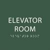 Green Elevator Room ADA Sign