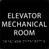 Black Elevator Mechanical Room ADA Sign