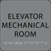 Grey Elevator Mechanical Room ADA Sign