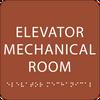 Orange Elevator Mechanical Room ADA Sign