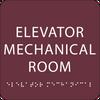 "Elevator Mechanical Room ADA Sign - 6"" x 6"""