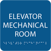 Royal Elevator Mechanical Room ADA Sign