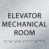 Aluminum Elevator Mechanical Room ADA Sign