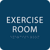 Blue Exercise Room ADA Sign
