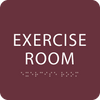 """Exercise Room ADA Sign - 6"""" x 6"""""""