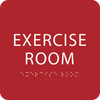 Red Exercise Room ADA Sign