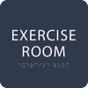 Blue Exercise Room Tactile Sign