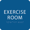Braille Exercise Room Braille Sign