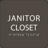 "Janitor Closet ADA Sign - 6"" x 6"""