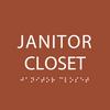 Orange Janitor Closet ADA Sign