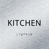 Aluminum ADA Kitchen Sign