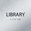 Aluminum Library ADA Sign