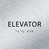 Aluminum ADA Elevator Sign