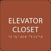 Orange ADA Elevator Closet Sign
