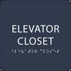 Navy ADA Elevator Closet Sign