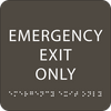 """Emergency Exit Only ADA Sign - 6"""" x 6"""""""