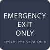 Navy Emergency Exit Only ADA Sign