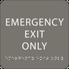 Dark Grey Emergency Exit Only ADA Sign