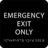Black Emergency Exit Only ADA Sign