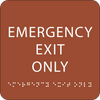 Orange Emergency Exit Only ADA Sign