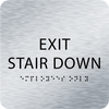 Aluminum Exit Stair Down ADA Sign