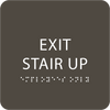 "Exit Stair Up ADA Sign - 6"" x 6"""