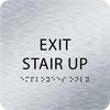 Aluminum Exit Stair Up ADA Sign