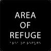 Black Area of Refuge ADA Sign