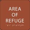 Orange Area of Refuge ADA Sign