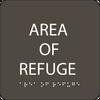"Area of Refuge ADA Sign - 6"" x 6"""